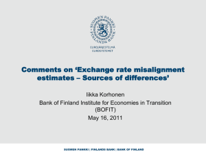 Comments on `Exchange rate misalignment