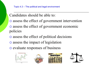 4.3 Governmental opportunities and constraints student version