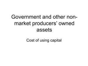 Government and other non-market producers` owned assets