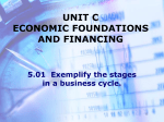 UNIT C ECONOMIC FOUNDATIONS AND FINANCING 5.01
