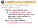 Globalization III: Structural Adjustment Policies