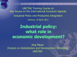 Industrial Policy - UNCTAD Paragraph 166 Course