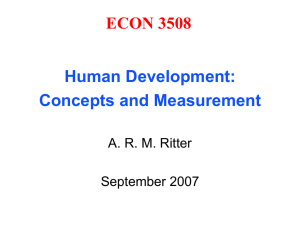 Concepts and Measures of Human Development