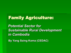 Potential of family agriculture