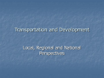 Transportation and Development