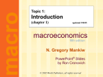 Mankiw 5/e Chapter 1: The Science of Macroeconomics