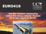 EU-Russian relations within the energy debate