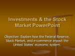 Investments & the Stock Market PowerPoint