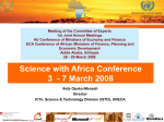 Science with Africa Conference - Conference of African Ministers
