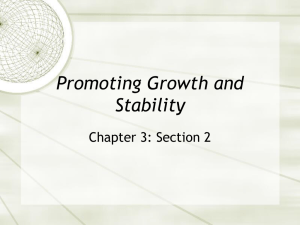 Promoting Growth and Stability - PHS-Econ