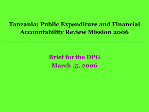 Tanzania: Public Expenditure and Financial