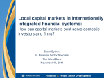 Integrating Markets in Financial Instruments