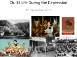 Life in the Depression