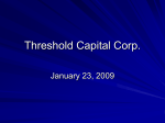 Threshold Capital Corp.