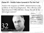 Chapter 34 – Franklin Delano Roosevelt & The New Deal