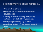 Scientific Method of Economics