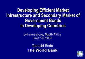 Secondary Market Regulations of Government Bonds