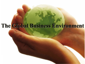 The Global Business Environment International Strategy