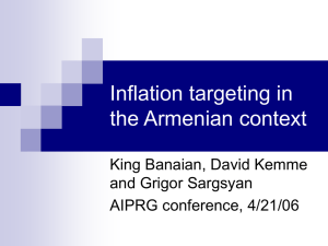 Inflation targeting in the Armenian context