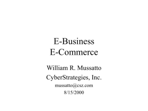 E-Business E-Commerce - CyberStrategies, Inc