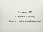 Jan 10 – What is an economy?