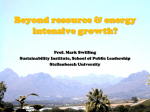Beyond resource and energy intensive growth