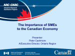 The Importance of SMEs to Canada