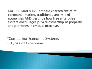 Unit 8 Types of economies
