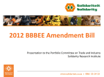 2012 BBBEE Amendment Bill