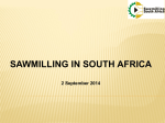 Sawmilling in South Africa