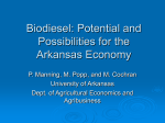 Biodiesel: Potential and Possibilities for the Arkansas Economy