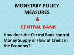 MONETARY POLICY MEASURES