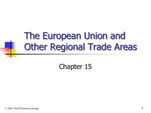 Chapter 15 The EU and Regional Trade Areas