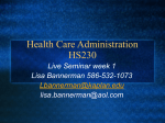 Health Care Administration HS230