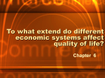 To what extend do different economic systems affect