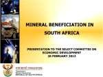 Mineral Beneficiation in South Africa