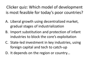 Clicker quiz: Which model of development