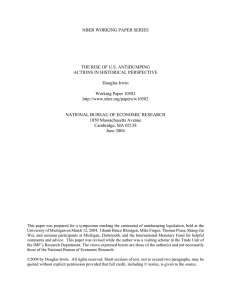 NBER WORKING PAPER SERIES THE RISE OF U.S. ANTIDUMPING Douglas Irwin