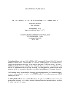 NBER WORKING PAPER SERIES Michael B. Devereux