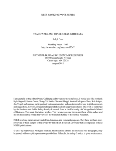 NBER WORKING PAPER SERIES TRADE WARS AND TRADE TALKS WITH DATA