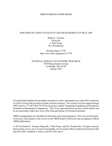 NBER WORKING PAPER SERIES Robert C. Feenstra Hong Ma