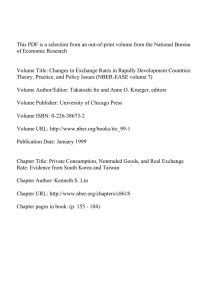 This PDF is a selection from an out-of-print volume from... of Economic Research