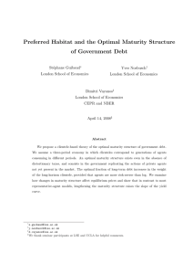 Preferred Habitat and the Optimal Maturity Structure of Government Debt