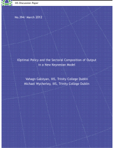 2012 IOptimal Policy and the Sectoral Composition of Output