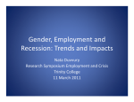 Gender, Employment and Recession: Trends and Impacts Nata Duvvury