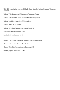 This PDF is a selection from a published volume from... Research Volume Title: International Dimensions of Monetary Policy