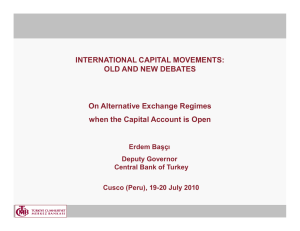 INTERNATIONAL CAPITAL MOVEMENTS: OLD AND NEW DEBATES On Alternative Exchange Regimes