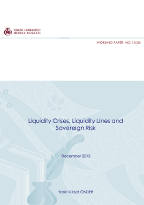 Liquidity Crises, Liquidity Lines and Sovereign Risk December 2015