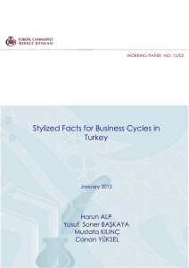 Stylized Facts for Business Cycles in Turkey Harun ALP Yusuf  Soner BAŞKAYA
