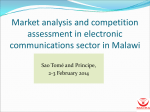 Market analysis and competition assessment in electronic communications sector in Malawi